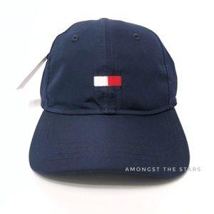 Tommy Hilfiger Navy Flag Box Logo Strapback Hat